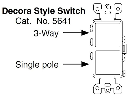 Leviton Decora 3-Way Switch Wiring Diagram 5603 from hankselectric.supply