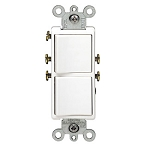 Leviton 5634 Decora Combination Stacked Single Pole Switches