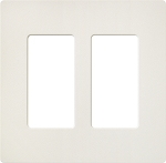 Lutron Screwless Double Wallplate