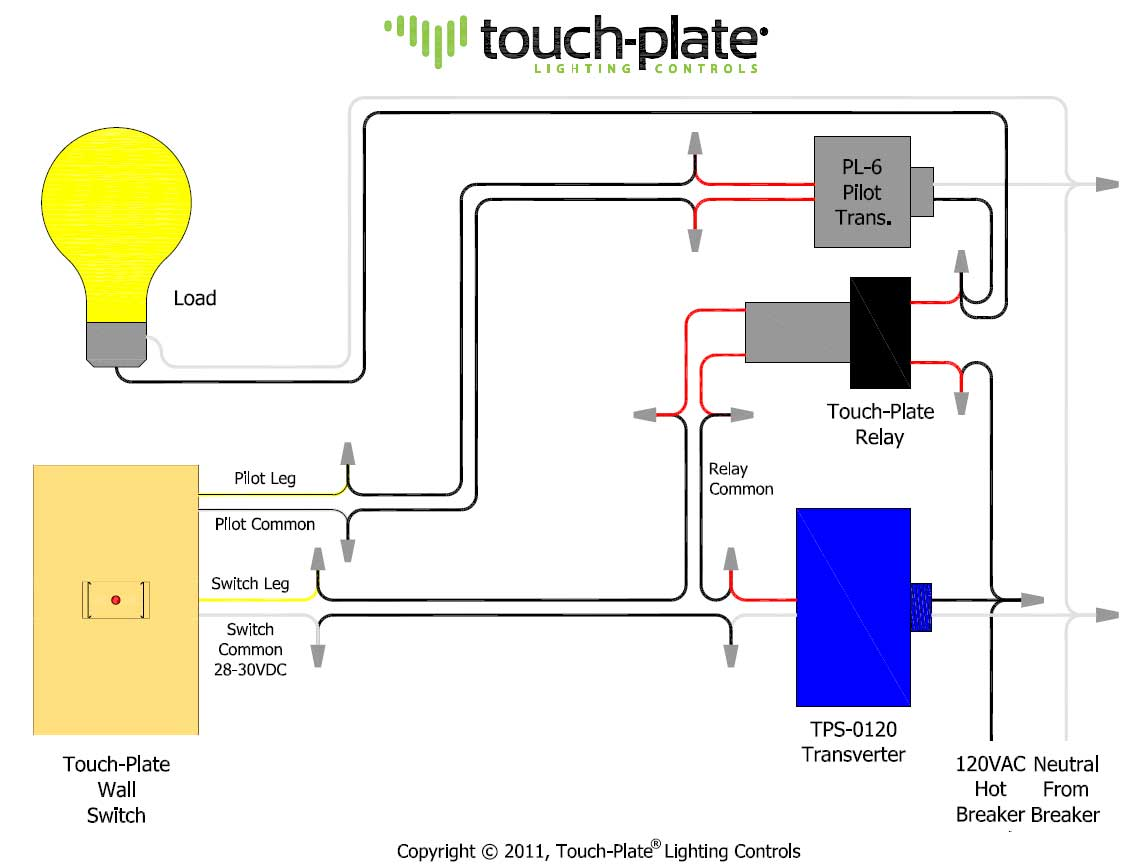 Pilot Touch Switch Wiring Explore Schematic Diagram 3 Way Light Touchplate 3000 Series Relay Rh Hankselectric Supply Cooper