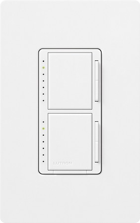 Lutron Maestro Stacked Dimmer / Dimmer (Inc. Only)
